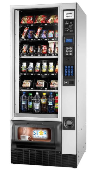 Exemplo de vending machine da Star Mídia & Café